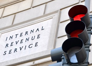 Sign in front of IRS